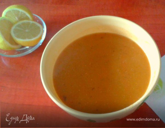 Турецкий суп-пюре из красной чечевицы (Мерджимек чорбасы)