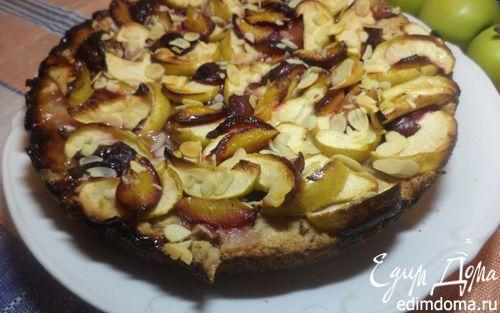 Рецепт Осенний яблочно- сливовый пирог