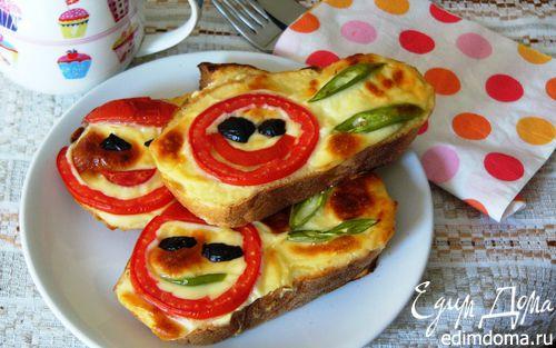 Рецепт Запеченные бутерброды с йогуртом и помидорами