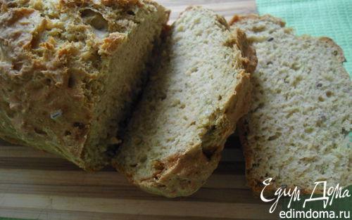 """Рецепт Содовый хлеб """"Полезный"""" и домашний плавленый сыр с травами"""