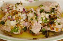 Куриное филе, фаршированное кедровыми орешками и лимоном