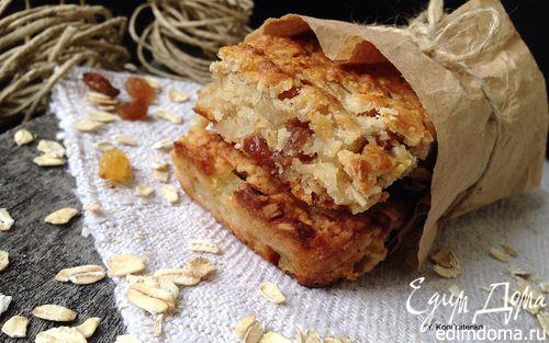 Рецепт Овсяные батончики с яблоком и изюмом