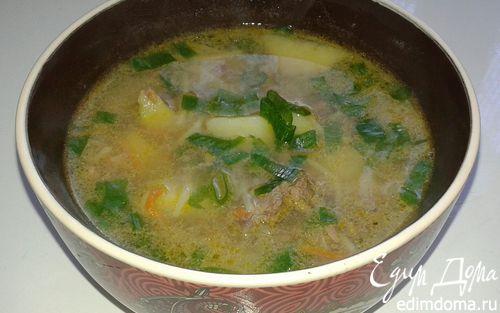 Рецепт Суп с куриной печенью (обед отличника)