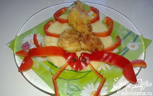 Рецепт Пюре с куриными нагетсами