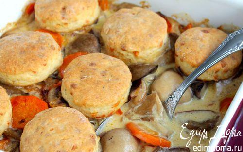 Рецепт Грибы с сырными сконами