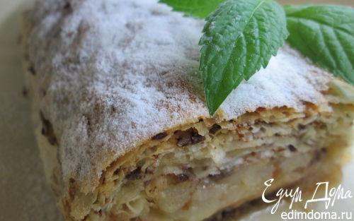 Рецепт Миндально-шоколадные груши в тесте фило