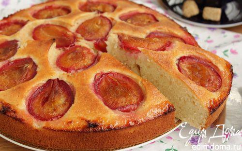 Рецепт Миндальный пирог со сливой