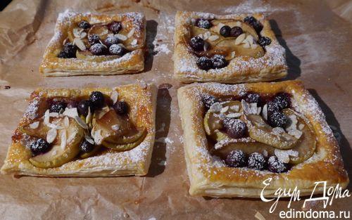 Рецепт Тарталетки с яблоками и голубикой