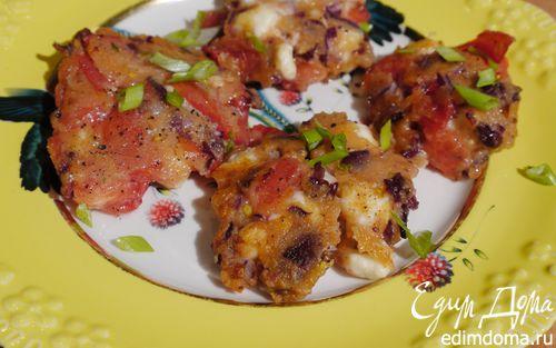 Рецепт Оладушки с помидорами и сыром