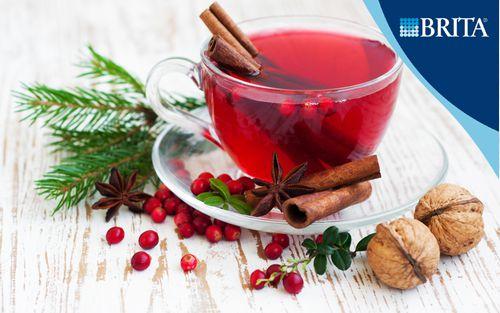 Рецепт Северный чай из шиповника и клюквы