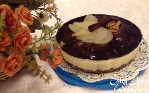 Рецепт Шоколадный пирог с грушей и панна котой