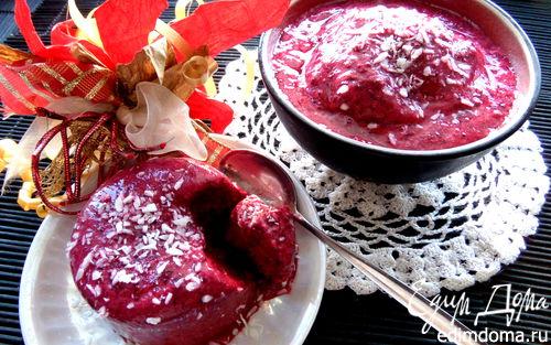 Рецепт Cорбе из чёрной смородины на йогурте