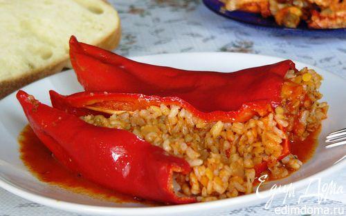 Рецепт Фаршированный перец с желтой чечевицей