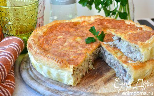 Рецепт Слоеный капустный пирог с рыбой