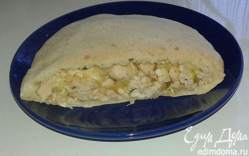 Рецепт Пита с начинкой из курицы и сыра
