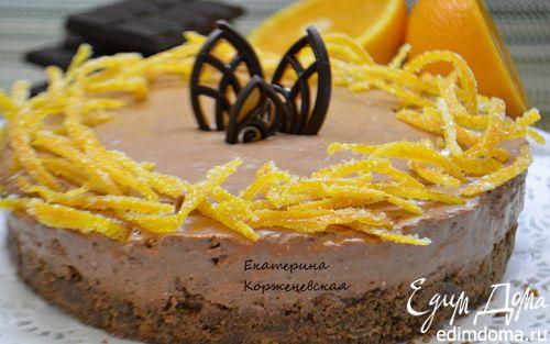 Рецепт Шоколадно-апельсиновый чизкейк