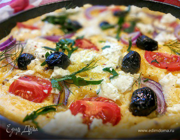 Омлет по мотивам греческого салата (Greek-Salad-Omelette)
