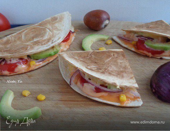 Вегетарианская кесадилья (Quesadilla)