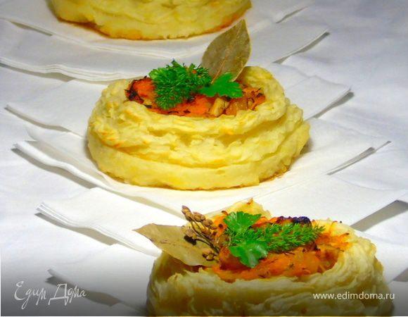 Пряная закуска с жареной малосольной сельдью