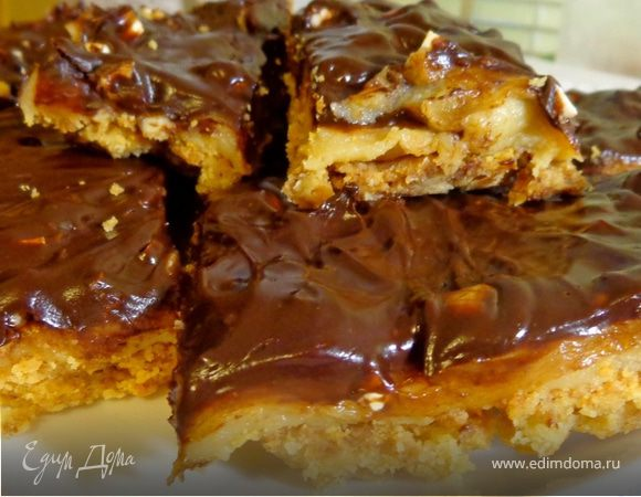 Шоколадное печенье с кешью и кремом тоффи