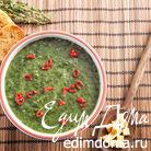 Холодный зеленый суп