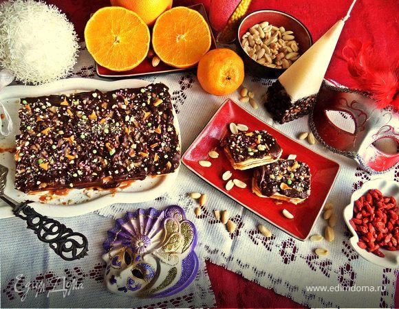 Торт с двойным шоколадом (без выпечки)