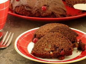 Кукурузный постный кекс с шоколадным мусcом