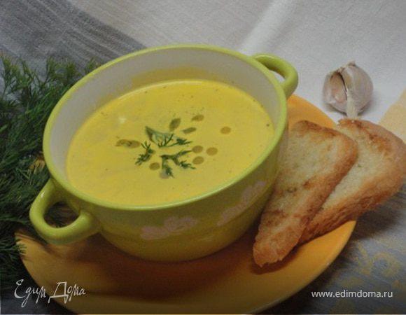 Тосканский суп из белой фасоли с гренками (постный вариант)