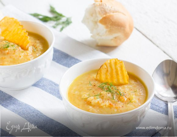 Суп из печеного картофеля