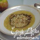 Суп-пюре из кабачка и жареной перловки