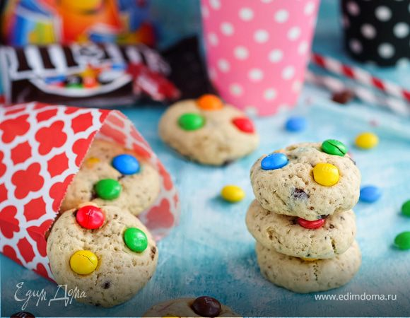 Веселое печенье с конфетами M&M«s