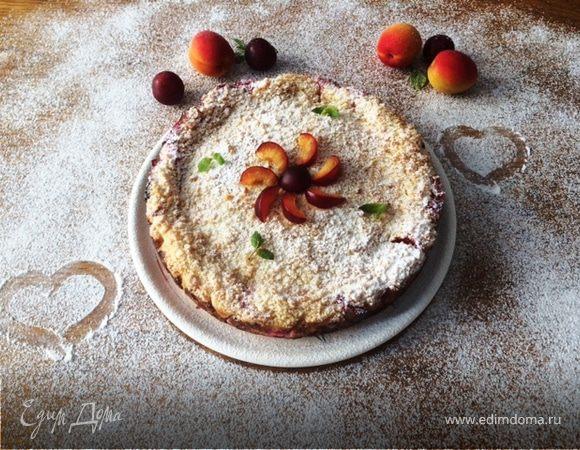 Творожно-ягодный пирог