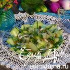 Пикантный огуречный салат