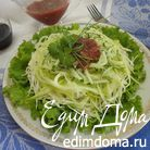 Салат-фреш из кабачков с огурцами