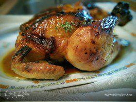 Курица в соляно-апельсиновом маринаде