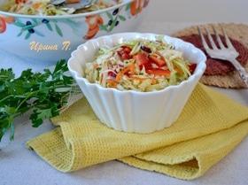 Капустный салат с маринадом