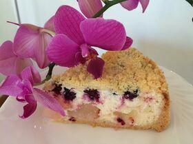 Творожный пирог с нектаринами