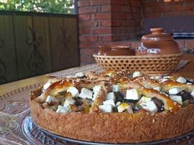 Средиземноморский овощной пирог