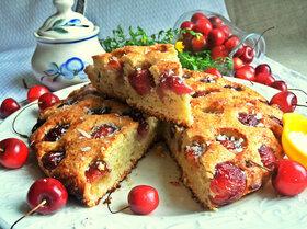 Пирог «Черешня в ореховом тесте»