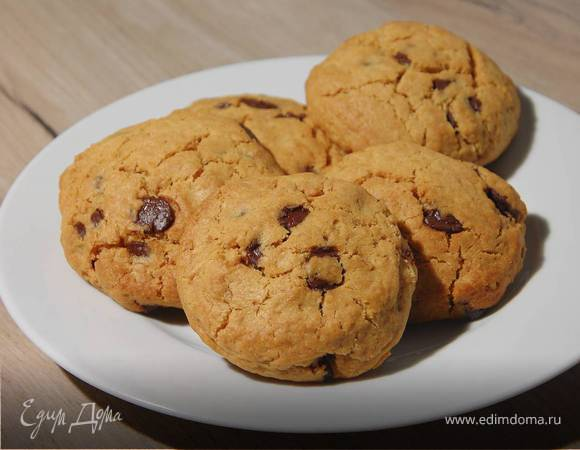 Арахисовое печенье с шоколадными каплями