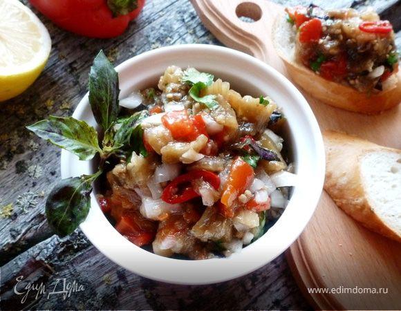 Салат из запеченных овощей со свежей зеленью