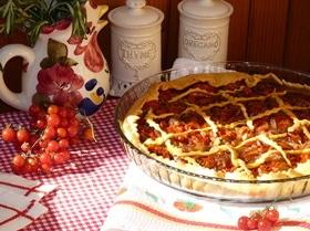 Средиземноморский пирог с брынзой и помидорами