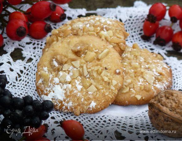 Быстрое итальянское печенье с орешками