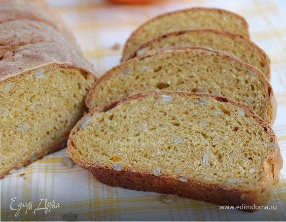 Пшенично-ржаной хлеб с тыквой
