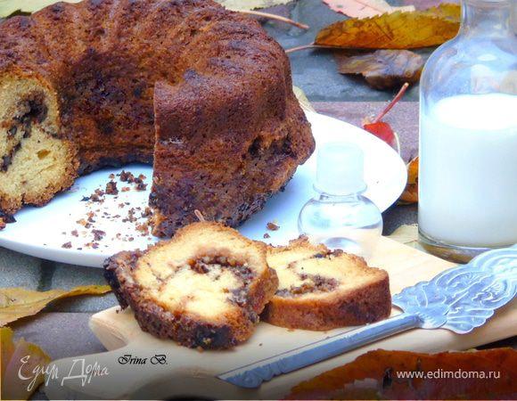Кекс с коричневым сахаром и орехами