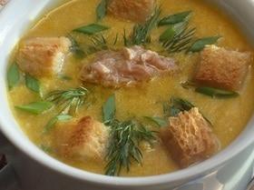 Кукурузный суп-пюре с тунцом