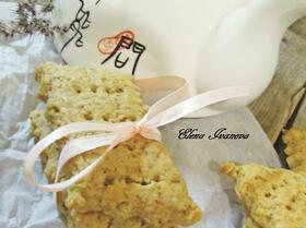 Печенье-крекер с медом и грецкими орехами
