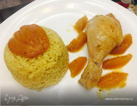 Курица с консервированными абрикосами