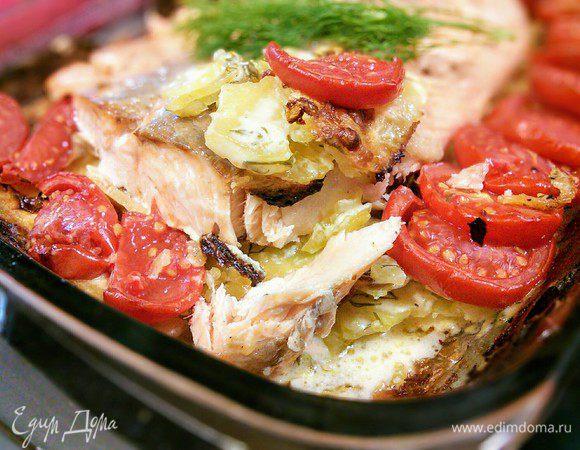 Рецепт картофель с лососем