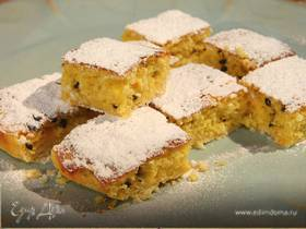 Лимонные пирожные с маракуйей